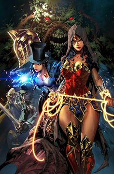 DC Comics. Comic Book Artwork • Justice League Dark by Kael Ngu. Follow us for more awesome comic art, or check out our online store www.7ate9comics.com Dc Comics Heroes, Dc Comics Characters, Dc Comics Art, Marvel Dc Comics, Justice League Characters, Justice League Comics, Dc Comics Girls, Cosmic Comics, Dc Comics Peliculas