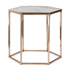 Bloomingville table. Copperplated with marble top. www.bloomingville.com