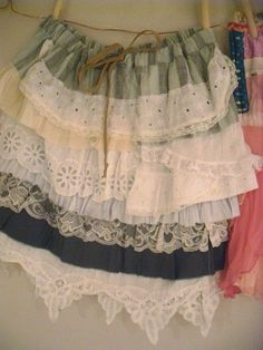 layered ruffled skirt diy reconstructed by Resurrection Rags, via Flickr