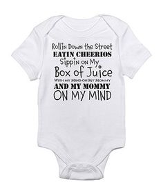 With the hilarious graphic on this fun bodysuit, Baby is sure to garner laughs and cheers even while in the midst of making a mess. Even better, the comfy lap neck and snaps on bottom allow little ones to be changed with ease.