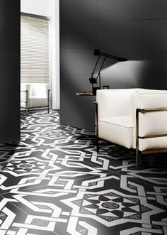 #BlackAndWhite Patterned Porcelain #Tiles