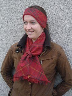 Classic Tweed Headband - Chilli Check