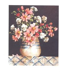 Summer Flowers 7.5 x 6.25 lithograph