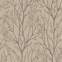 Fine Decor Delamere Wallpaper - Cream and Gold
