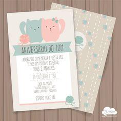 Convite Gatinhos p imprimir
