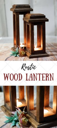 Lovely! Would make a good centerpiece for Thanksgiving! Reclaimed Wood Lanterns, Rustic Thanksgiving Decor, Rustic lantern, Wooden lantern, Thanksgiving Table, Rustic Home Decor, Wood Lantern #ad