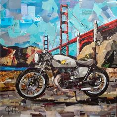 Motorcycles Collage