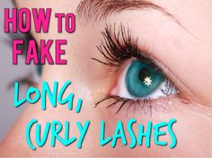 Ways to make your lashes look like Falsie eyelashes everyday! Quick and easy