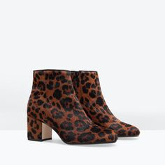 ZARA - WOMAN - HIGH HEELED PRINTED LEATHER BOOTIE