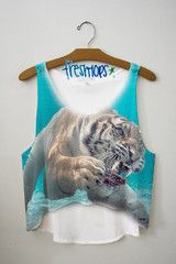 This is one of my favorites on fresh-tops.com: Rawr. Crop top