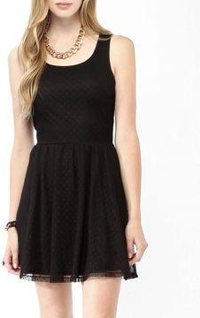 FOREVER 21 Crisscross Back Swiss Dot Dress on shopstyle.com