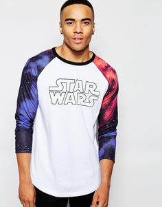 Image 1 of ASOS Relaxed Longline Long Sleeve T-Shirt With Star Wars Print