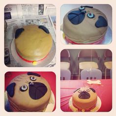 Pug Cake for a birthday party! Wish I would have broke it into more steps! Dog cakes are so fun.