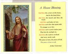 A House Blessing - Christ Knocking Holy Card Catholic Books, Catholic Gifts, House Blessing, Bible Prayers, Blessed, Wisdom, Sayings, Jesus Faith, God Jesus