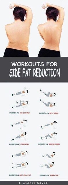 8 Effective Exercises To get rid of Side Fat. by trisha 8 Effective Exercises To get rid of Side Fat. by trisha Fitness Workouts, Easy Workouts, Fitness Diet, At Home Workouts, Fitness Motivation, Health Fitness, Workout Routines, Workout Plans, Gym Routine