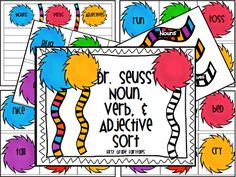 First Grade Fairytales: Dr. Seuss FLASH FREEBIE - Nouns, Verbs, & Adjectives