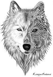 Image result for mandala wolf tattoo #tattoosformenonleg