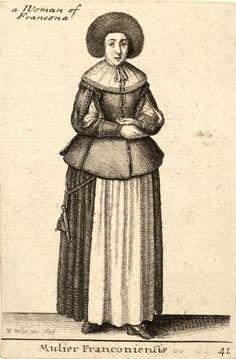 "Wenceslas Hollar, 1643 ""Mulier Franconiensis"""