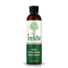 TreeActiv Acne Eliminating Body Lotion 8 fl oz Clears Body, Back, Butt and Shoulder Acne Anti-Acne Moisturizer Prevents Future Breakouts Cucumber Mint (Green) Scent Hipster Fashion Style, Shoulder Acne, Natural Face Cleanser, Natural Facial, Natural Skin, Natural Makeup, Natural Beauty, Cystic Acne Treatment, Facial Treatment