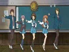 Suzumiya Haruhi no Yuuutsu (The Melancholy of Haruhi Suzumiya) ending (full dance version) #anime