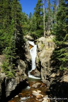 Chasm Falls one of 10 experiences you can't miss in Rocky Mountain National Park. Be sure to add this one to your Colorado travel itinerary.