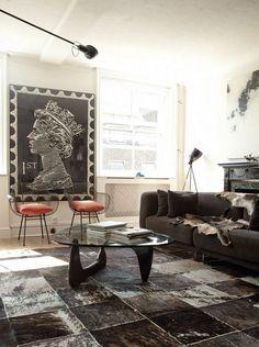 Mesa Noguchi de centro en el salón | Decoratualma - Una oficina convertida en hogar
