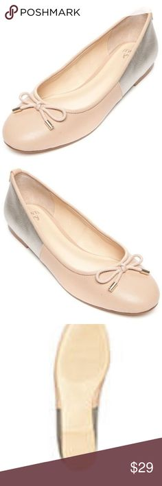 Crown & Ivy Women's Mia Nude w/Gold Ballet Flats Crown & Ivy™ Mia