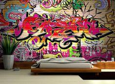 Personalised Custom Graffiti Name Wall Art Stickers Decor For Kids ...