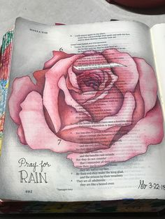 Hosea6:3 ...he will come to us as the showers, as the spring rains that water the earth.  Pray for rain.  Sherrie Bronniman - Art Journaling: In My Bible