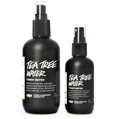Lush's Tea Tree Water toner is my new favorite product. I use it on my face then add moisturizer on top, and I use it to wipe the grime off my phone screen and freshen up stinky shoes. Miracle product!
