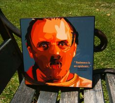 Hannibal Lecter Pop Art Anthony Hopkins Wall Decor by PeoplePopArt, $19.00