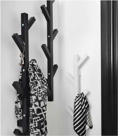 TJUSIG hanger Made from renewable wood, this vertical coat hanger in the shape of a graphic tree design, is perfect for small spaces. Amsterdam Apartment, Do It Yourself Organization, Deco Studio, Affordable Storage, Coat Stands, Garden Living, Coat Hanger, Tree Designs, My New Room
