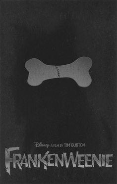 Frankenweenie by Maria Kaner - Graphic Design - Poster movie film cinema - minimalist Best Movie Posters, Minimal Movie Posters, Animation Stop Motion, Animation Film, Love Movie, Movie Tv, Desenhos Tim Burton, Poster Minimalista, Fantasy Films