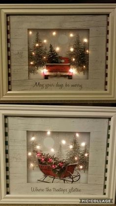 Pictures made by a craft artist with dollar store gift bags, battery LED lights,. Pictures made by a craft artist with dollar store gift bags, battery LED lights, and frames - Dollar Tree Christmas, Dollar Tree Crafts, Christmas Art, Holiday Crafts, Christmas Holidays, Christmas Ornaments, Christmas Ideas, Christmas Decorations Dollar Tree, Diy Christmas Frames