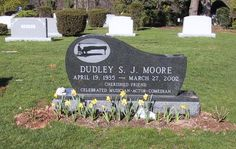 Dudley Moore Burial: Hillside Cemetery Scotch Plains Union County New Jersey, USA Plot: Cemetery Monuments, Cemetery Headstones, Old Cemeteries, Graveyards, Cemetery Angels, Cemetery Art, Famous Tombstones, Famous Graves, Famous Stars