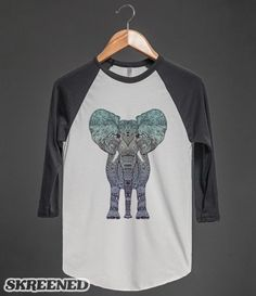 TRIBAL MINT ELEPHANT | Handdrawn illustraition of a cute elephant girl with awesome lashes! #Skreened