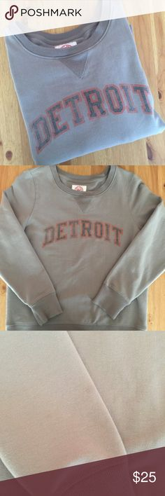 ✴️FINAL PRICE Detroit Sweatshirt •Women's size medium •Color: Gray •Small light stain on Sleeve (see pic - barely noticeable) •Sorry, I do not model clothing items  •No trades/holds Tops Sweatshirts & Hoodies