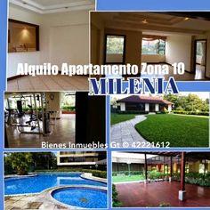GUATEMALA REAL ESTATE  *   Bienes Inmuebles Guatemala: Alquilo Apartamento Zona 10 Milenia 42221612