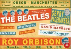 The Beatles And Roy Orbison Concert poster ) Beatles Poster, The Beatles, Vintage Concert Posters, Vintage Posters, Retro Posters, Tour Posters, Music Posters, Theatre Posters, Event Posters