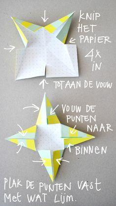 Papieren sterren vouwen