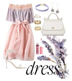 """Off the Shoulder Dress Contest"" by pearlumberger on Polyvore featuring Vanessa Mooney, Humble Chic, Dolce&Gabbana, Gianvito Rossi, Charlotte Russe, Miss Selfridge, Spring, contest, chic and floral"