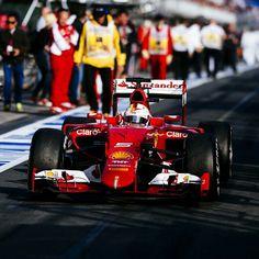 Sebastian Vettel Malaysia GP 2015 Ferrari