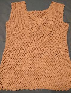 Vestido hilo playero técnica crochet