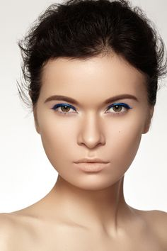 Photographers — Marina & Artem, MUA — Marina Morozova #beauty #makeup #blue #fashion #model
