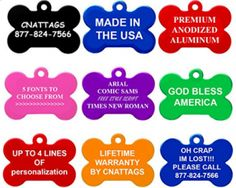 Amazon: Engraved Dog & Cat Tags Only $2.50 with FREE Shipping!