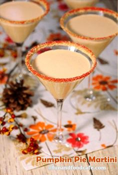 Quick, easy and delicioso - this Pumpkin Pie Martini is holiday inspired!