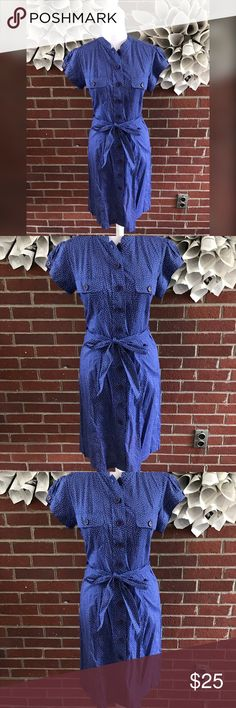 Halogen Nordstrom Button Up polka dot shirt dress Please see photos for all measure and detail. This item comes from a smoke free home. No rips, tears, stains to note. Shipping is quick! Buy confidently!! Thanks for looking!! Halogen Dresses
