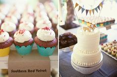 wedding cake | cupcakes | White cake | dog cake top