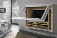 TV Wall Mount Style Ideas to Combine with Your Attractive and Comfort Living Room Tv Wall Cabinets, Wall Mount Tv Cabinet, Buy Tv, Interior Desing, Tv Wall Design, Framed Tv, Living Room Tv, Wall Mounted Tv, Cuisines Design