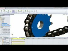 Animated Chain in SolidWorks - YouTube